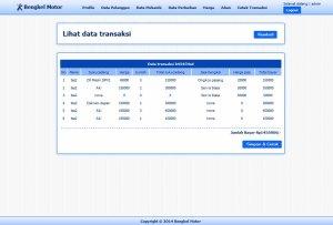 Sistem Informasi transaksi bengkel  berbasis Web dengan PHP-MySQL dan Dreamweaver2